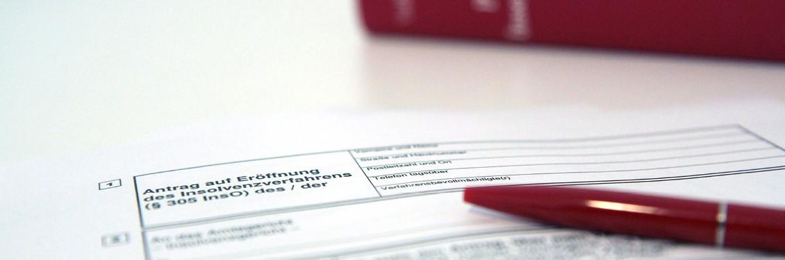 Bild von einem Antrag für Eröffnung des Insolvenzverfahrens