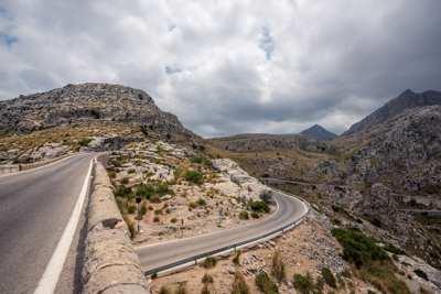 Bild von einer Straße auf Mallorca