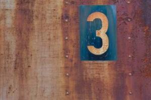 Bild von der Zahl drei