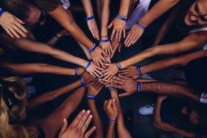Bild von Händen einer Gruppe