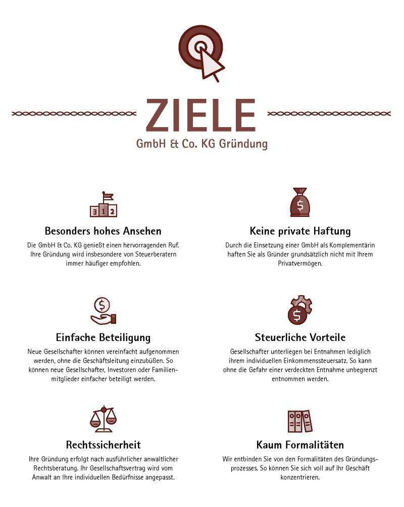 GmbH & Co KG gründen - das sind die Ziele