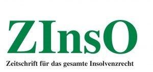 Logo Zinso Zeitschrift für das gesamte Insolvenzrecht