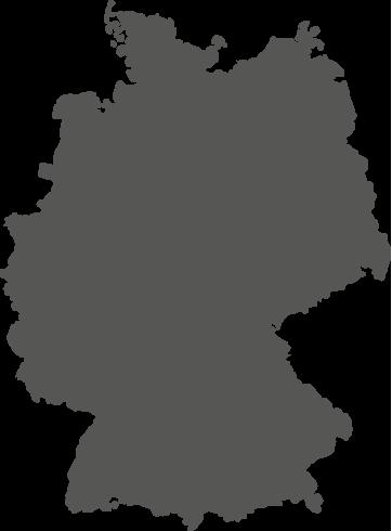 Graues Bild einer Deutschlandkarte