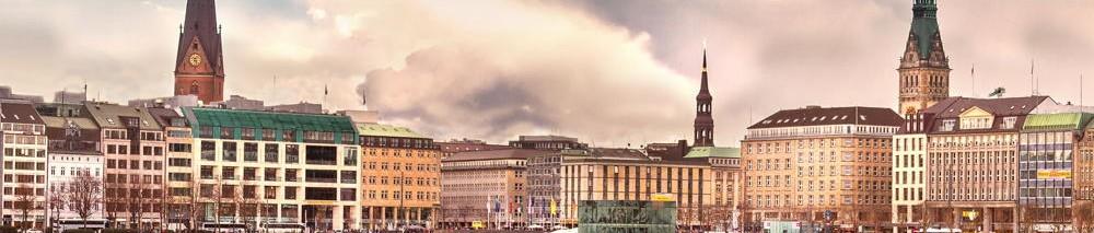 Skyline der Stadt Hamburg mit Elbphilharmonie