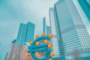 Bild von Hochhäusern und einem Eurozeichen davor
