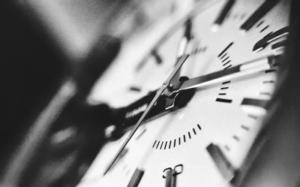 Bild von einer Uhr
