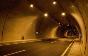 Innenansicht eines Tunnels