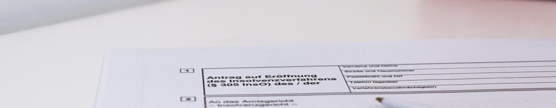 Antrag auf Eröffnung des Insolvenzverfahrens