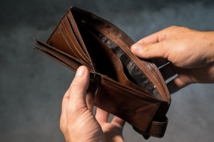 Bild von einer leeren Geldbörse