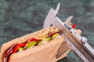 Bild von einem Sandwich und Messgerät