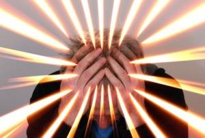 Bild von gestresstem Mann