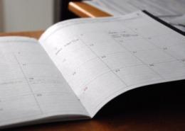 Bild von einem Terminkalender